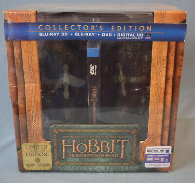 THE HOBBIT The Desolation of Smaug Collector's Edition 3D BLU-RAY + BOOK