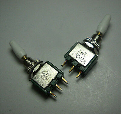10pcs Toggle Switch Knx-102 Ac250v 2a On-on 2 Positions Spdt 3 Pins 6mm Mounting
