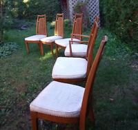 French Provincial Dinning Chairs Antique Wood -