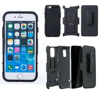 New Rugged Armor Hard Case Stand With Belt holster for Iphone 6