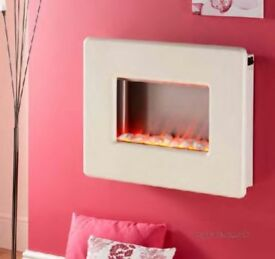 Vivo cream 2000w electric wall hung fire excellent condition