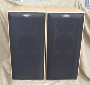 2 JAMO E410 BOOKSHELF 3 WAY SPEAKERS 50W DENMARK NEW