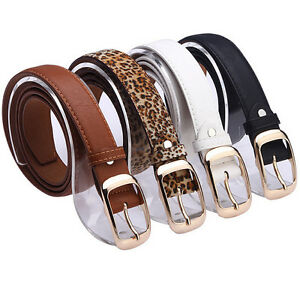 Casual-Womens-Faux-Leather-Alloy-Pin-Buckle-Waist-Strap-Belts-Waistband