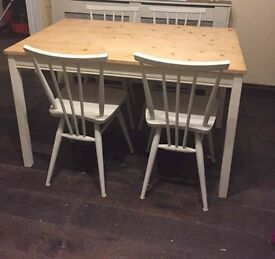 Shabby Chic 4 chair dining table for sale :)