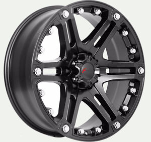 "New 20"" Matte blk or Blk & mach rims for Ford F250-350"