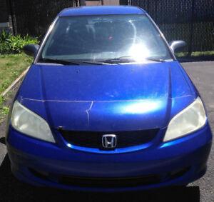 Honda Civic 2005 Coupe Bleu