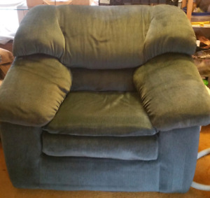 Hunter green couch chair