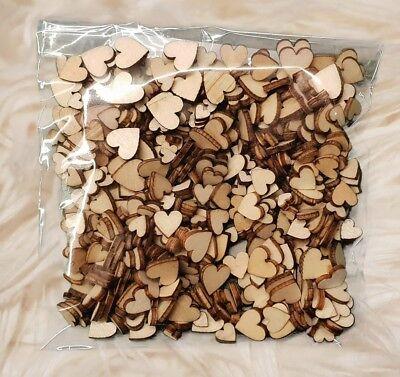 400 Stück Streudeko Holz Herz Verlobung Taufe Hochzeit Dekoherzen Streuteile Min