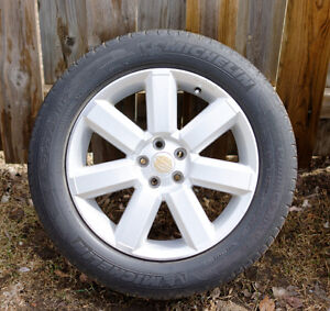 Michelin Primacy MXV4 225/55R17 97V on Subaru rims, Set of 4