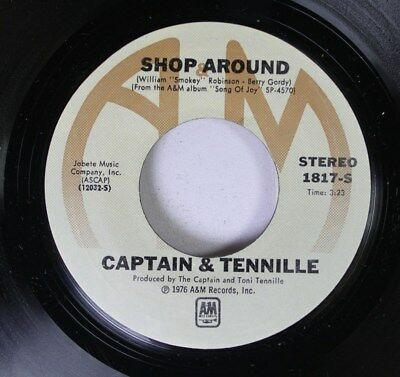 Pop 45 Captain   Tennille   Shop Around   Butterscotch Castle On A   M Records