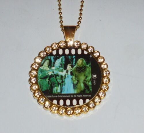 Vintage Wizard Oz Wicked Movie Film Pog Pendant Necklace Dorothy Toto Witch GOOG