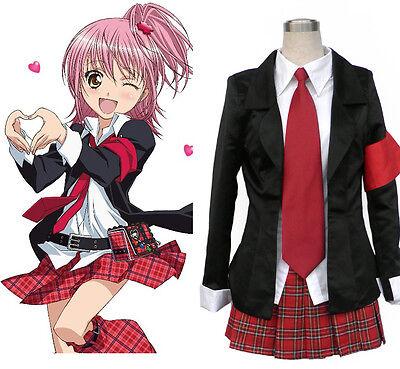 Shugo Chara Kyara Hinamori Amu Mashiro Rima Cosplay Kostüm lolita Anzug (Shugo Chara Amu Kostüm)
