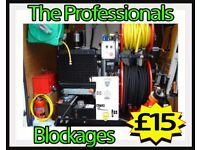 """""""£15"""" FIXED RATES """"£15"""" (Gumtree Customers) LIFETIME GUARANTEE"""" Free Quote -Blocked Drains & Toilets"""