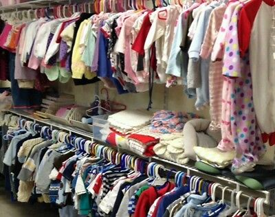 50 PC Girls Wholesale Clothing Lot Childrens Assorted Sizes Mixed Resale