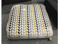 Multi coloured patterned Footstool / pouffe