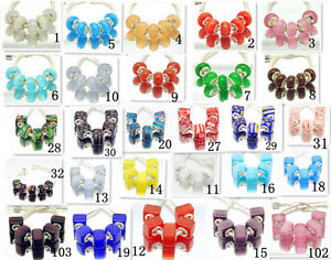 Choose-Cats-Eye-Stone-European-Bead-fit-Charm-Bracelet-10pcs