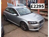 2007 07 Reg Volvo C30 Coupe 2.0 Diesel R-Design SE Sport, 6 Speed Manual, 2 Door, Metallic Silver