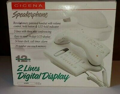 NEW NIB Vintage 1996  Cicena 2 Line Speakerphone Phone with 3way Conferencing 2 Line 3 Way