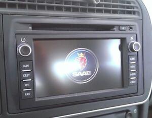2011 Saab 9-3 Radio NAVIGATION DISPLAY Button Overlay Decal Repair Kit BEST