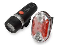 Bicycle / Bike Headlight & Tail Light Set - 5 LED - Water Resistant - Super Bright - Brand New
