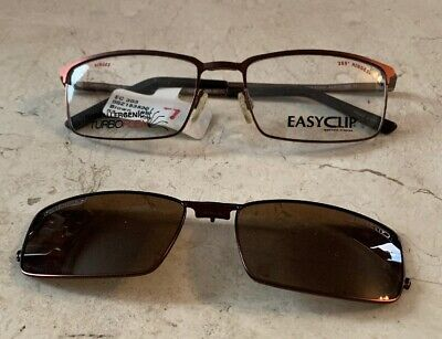 EASYCLIP Turboflex EYEGLASS SUNGLASS PRESCRIPTION GRADE FRAME POLARIZED EC303 (Polar Eyeglasses)