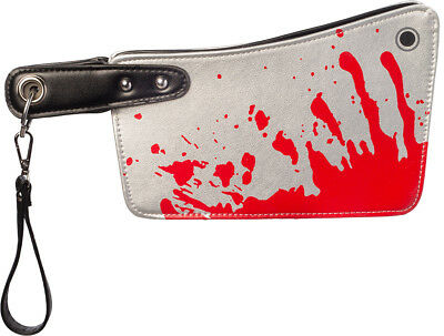 Ladies Bloody Horror Hatchet Halloween Knife Bag Fancy Dress Costume Accessory - Hatchet Halloween