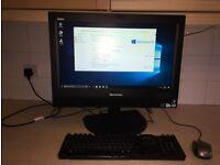 "Lenovo all in one AIO complete desktop computer Webcam 20"" HD widescreen Windows 10 64bit WIFI"