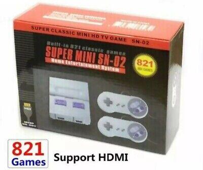 Super Nintendo Mini Classic 8Bit CLONE HDMI 821 Games 3 Day Priority Ship