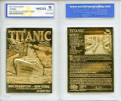 1912 Titanic  Worlds Largest Ship  23 Karat Gold Card   Graded Gem Mint 10