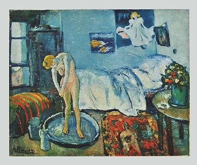 PICASSO -Motiv: die Badewanne - hochwertiger LICHTDRUCK Kunstdruck NEU -RARITÄT