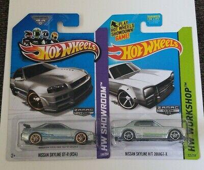 Hot Wheels 2013 Zamac Nissian Skyline GT-R (R34) Nissian Skyline H/T 2006GT-X