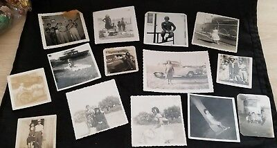 Lot of 14 Vintage Black And White Photos People in the Salinas CA Area