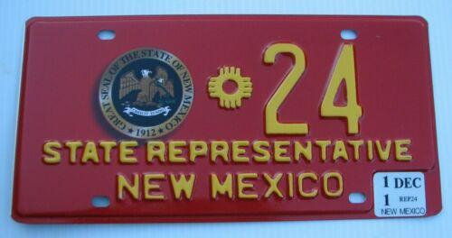 """NEW MEXICO STATE REPRESENTATIVE  LICENSE PLATE """" * 24 """" NM  SEAL REP LEGISLATURE"""