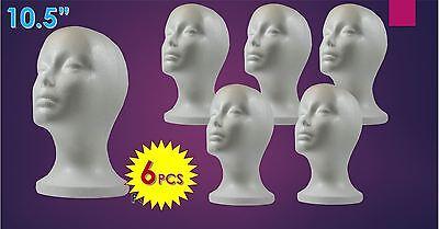 Wig Styrofoam Head Foam Mannequin Display 10.5 6pcs