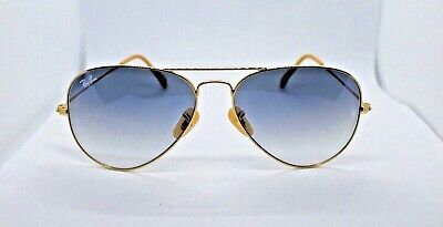 Ray-Ban RB3025 Aviator Gradient 001/3F Gold Frame/Light Blue Gradient Lenses (Ray Ban Blue Gradient)