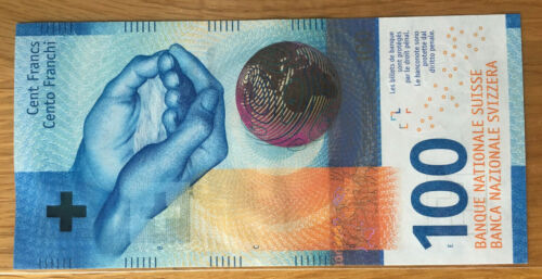 Switzerland Swiss 100 Francs 2017 (2019) UNC Sign #3