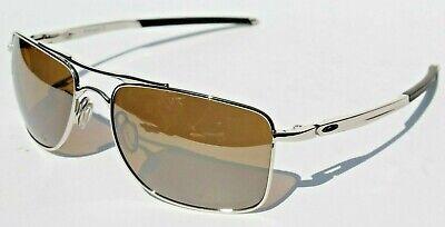 OAKLEY Gauge 8 POLARIZED 57mm Sunglasses Chrome/Tungsten Iridium NEW OO4124-0557