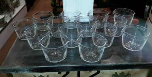 14 Antique Cut Glass Wine Rinsers