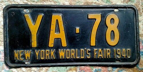 1940 New York License Plate World