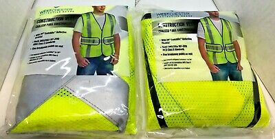 Lot Of 2 - West Chester Construction Vest W 3m Scotchlite Material - New