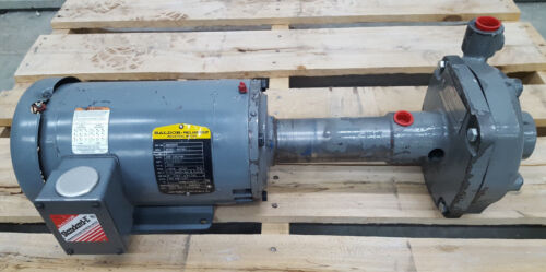 FLOWSERVE PUMP 1.25 X .75 X 5 WMP-200 2HP Baldor Electric Motor USED