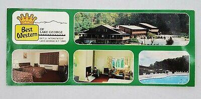 VINTAGE 1970s Post Card Best Western of Lake George by Studio Graphics - Unused