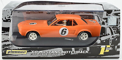 Pioneer 1968 Ford Mustang Notchback Tanj. Orange J-Code Prototype 1/32 Slot Car
