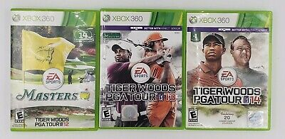Tiger Woods XBOX 360 Games 12 (Masters), 13 and 14 - all 3 games