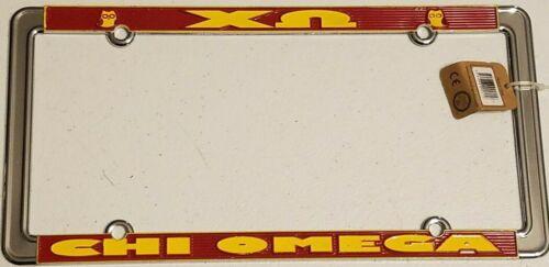CHI OMEGA Heavy Metal License Plate Frame