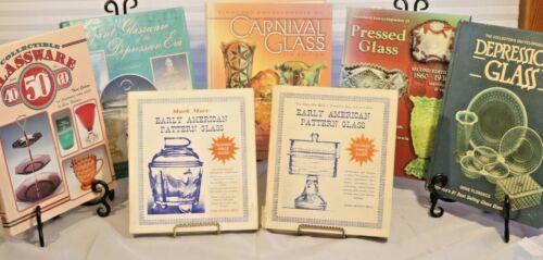 LOT VINTAGE/ANTIQUE DEPRESSION, CARNIVAL, EAPG, PRESSED GLASS REFERENCE BOOKS