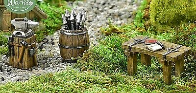 Viking Medieval Set 3 Table w Book + Anvil + Barrel GI 700990](Medieval Table Setting)