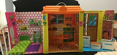 Vintage 1973 Barbie MOD Country Living Home House w/ Furniture * 3 DAY