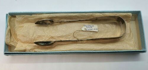 Antique Georgian Sterling Silver Tongs. William Rawling Sobey - Exeter -1833
