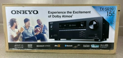 Onkyo TX-SR393 5.2 Ch 4K UHD HDR Home Theater A/V Receiver with 4x HDMI Inputs